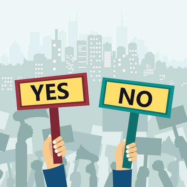 Protesta in città Vettore gratuito