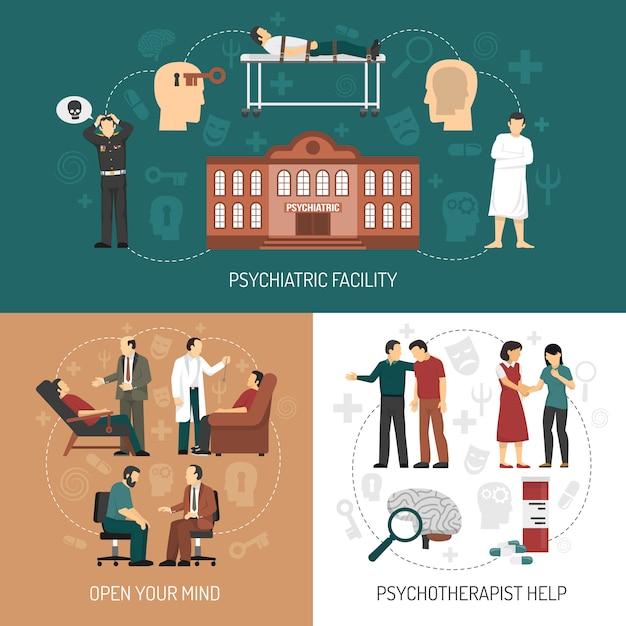 Psicologo design concept Vettore gratuito