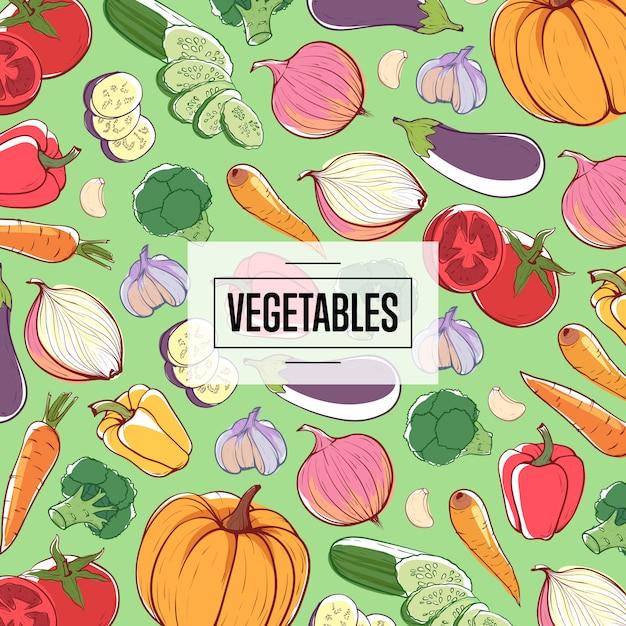 Pubblicità del supermercato di verdure naturali eco Vettore Premium