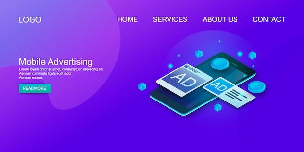 Pubblicità mobile Vettore Premium