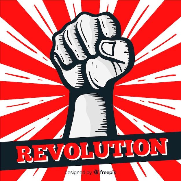 Pugno alzato per la rivoluzione Vettore gratuito