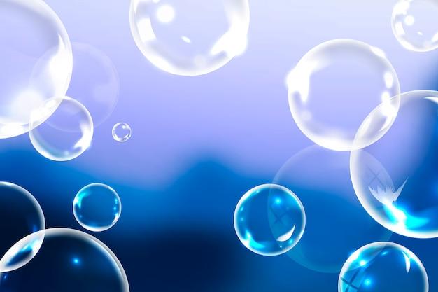 Pulire le bolle di sapone Vettore gratuito