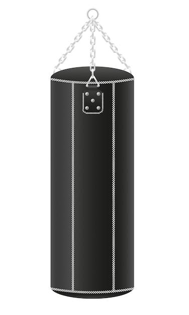 Punching ball per l'illustrazione di vettore di pugilato Vettore Premium