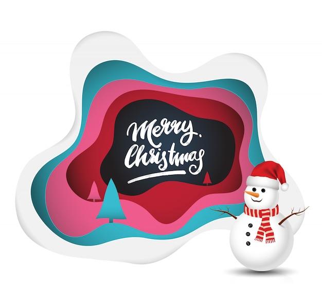 Immagini Con Scritte Di Buon Natale.Pupazzo Di Neve Con Scritte Di Buon Natale Scaricare