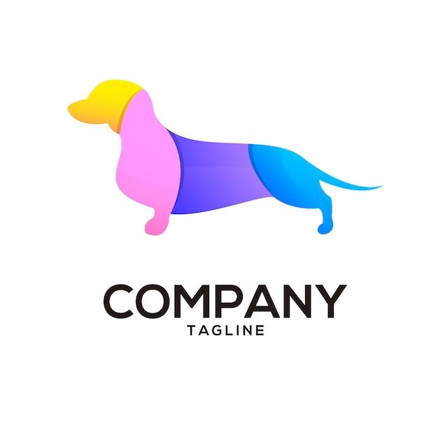 Puppy dog design Vettore Premium