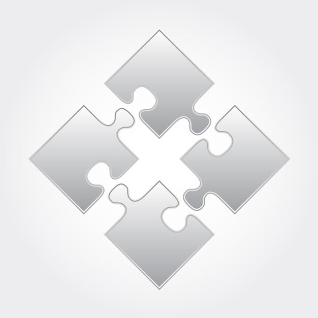 Puzzle square Vettore Premium