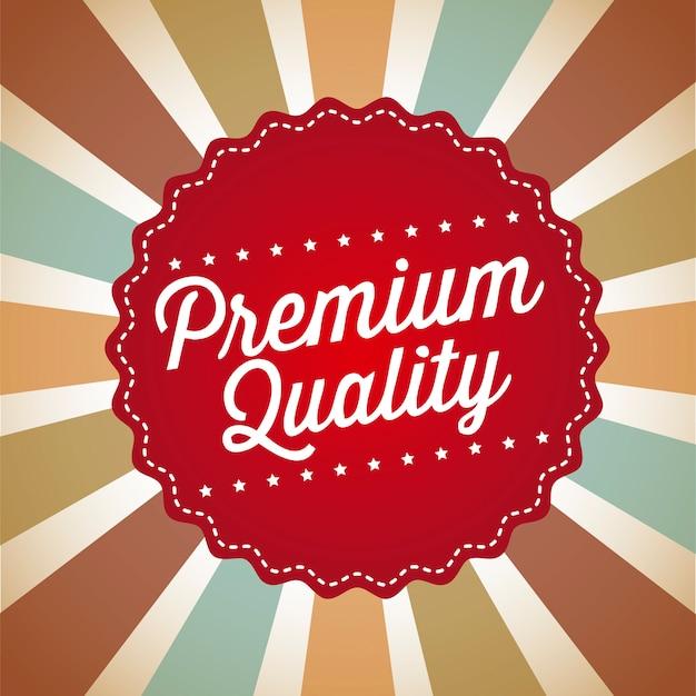 Qualità premium su sfondo vintage illustrazione vettoriale Vettore Premium
