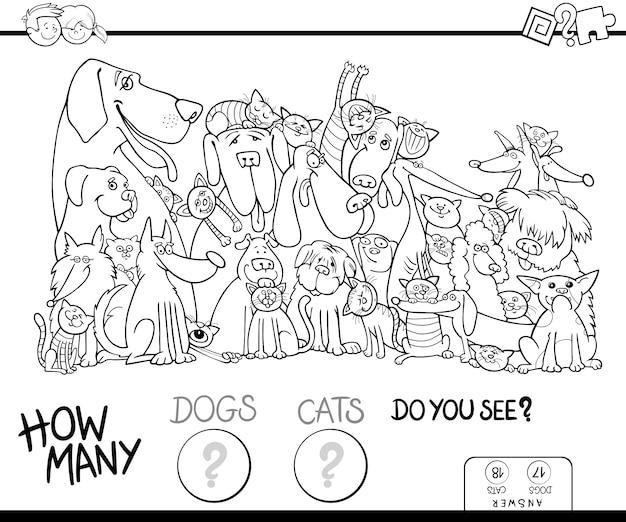 Quanti Libri Da Colorare Per Cani E Gatti Scaricare Vettori Premium
