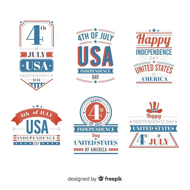 Quarta collezione di badge del luglio Vettore gratuito