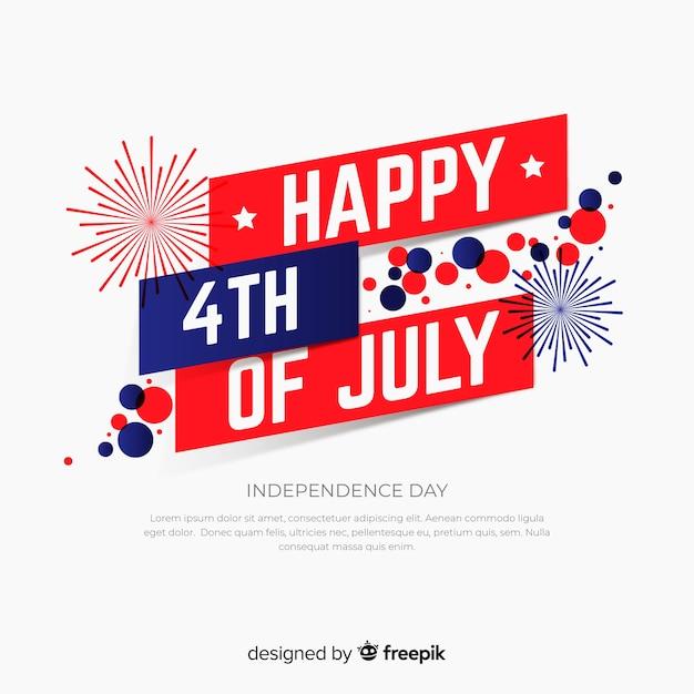 Quarto di luglio sfondo festivo Vettore gratuito