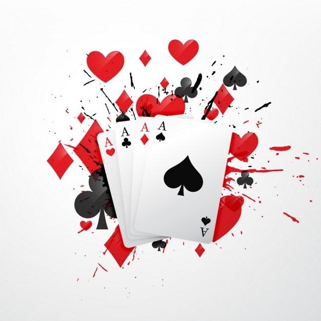 Quattro assi carte da poker illustrazione Vettore gratuito