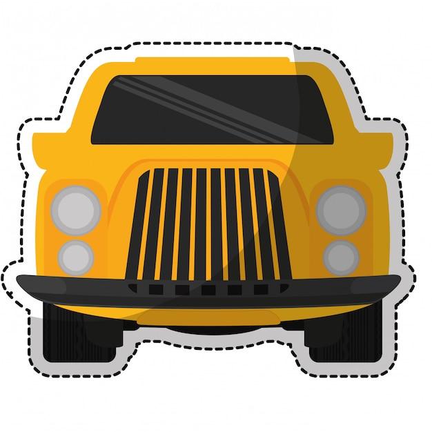 Raccogliere l'icona del camion Vettore Premium