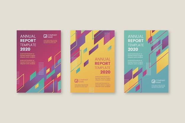 Raccolta astratta del modello del rapporto annuale Vettore gratuito