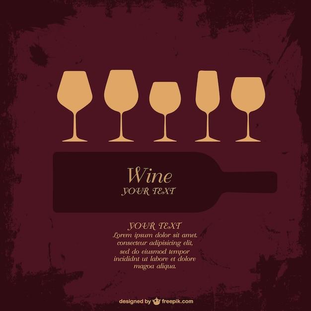 Raccolta bicchiere di vino vettore Vettore gratuito