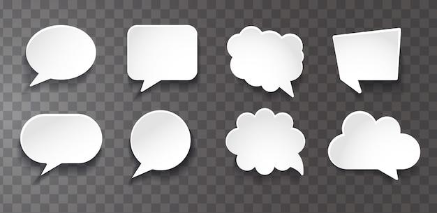 Raccolta bolle di chat Vettore Premium