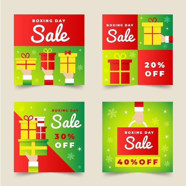 Raccolta della posta del instagram di vendita di santo stefano Vettore gratuito