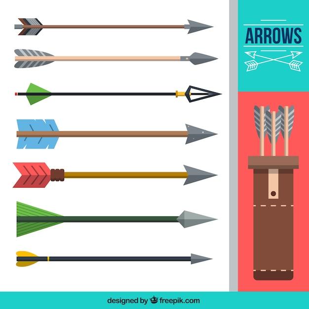 Raccolta delle frecce piatte Vettore gratuito