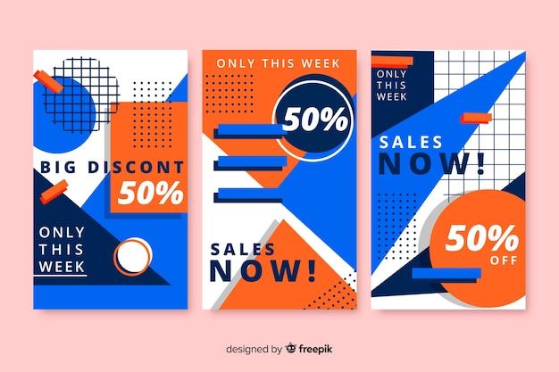 Raccolta di banner di vendita in stile Vettore gratuito