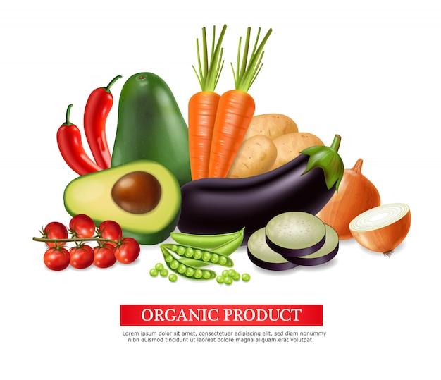 Raccolta di banner di verdure Vettore Premium