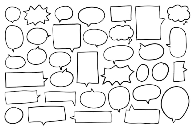 Raccolta di bolle di discorso vettoriale Vettore gratuito