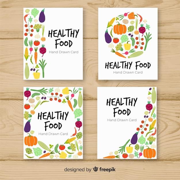 Raccolta di cibo sano Vettore gratuito