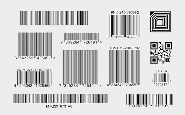 Raccolta di codici a barre Vettore gratuito