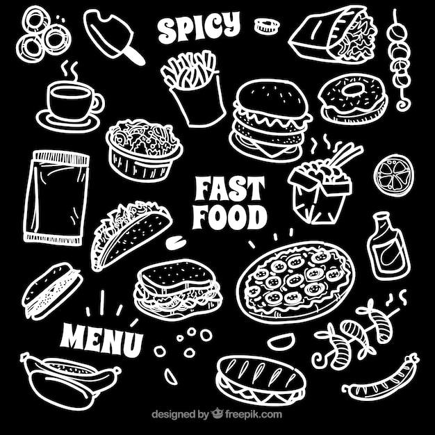 Raccolta di diversi tipi di cibo in stile gesso for Tipi di stile
