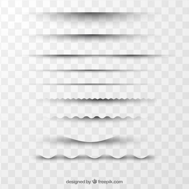 Raccolta di divisori di pagina senza sfondo Vettore gratuito