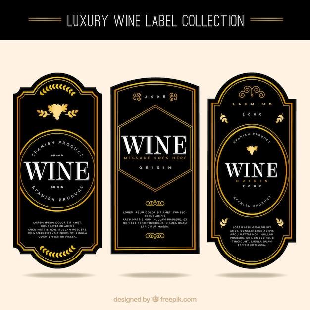 Molto Raccolta di eleganti etichette del vino | Scaricare vettori gratis RT65