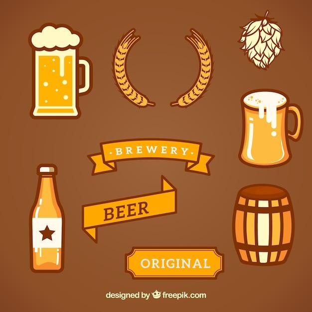 Raccolta di elementi di design brewery scaricare vettori for Disposizione seminterrato di design gratuito