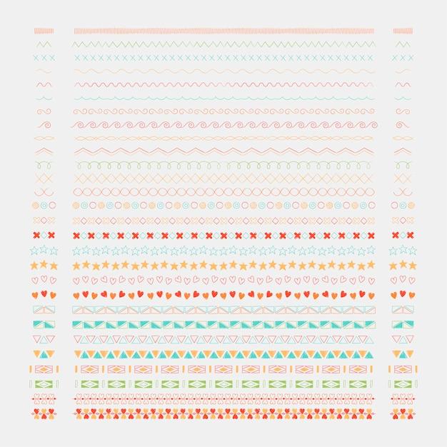 Raccolta di elementi di design linea di divisori linea Vettore gratuito