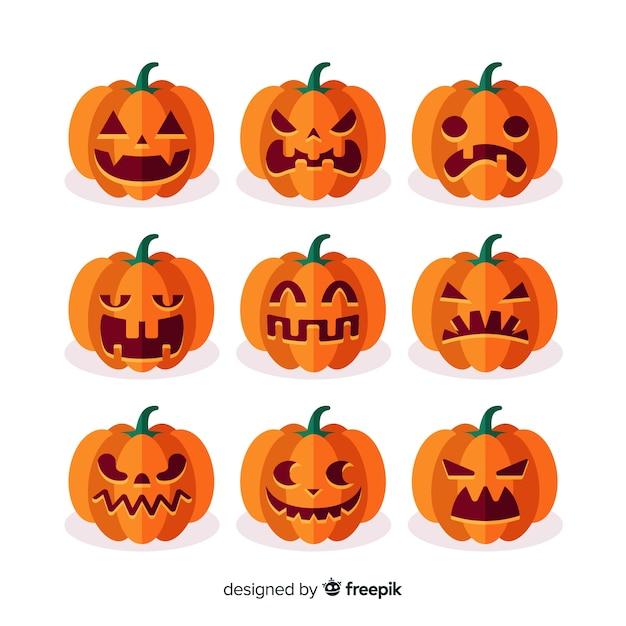 Raccolta di elementi di halloween Vettore gratuito