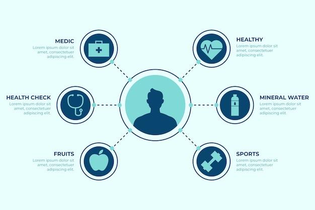 Raccolta di elementi di infografica medica Vettore gratuito