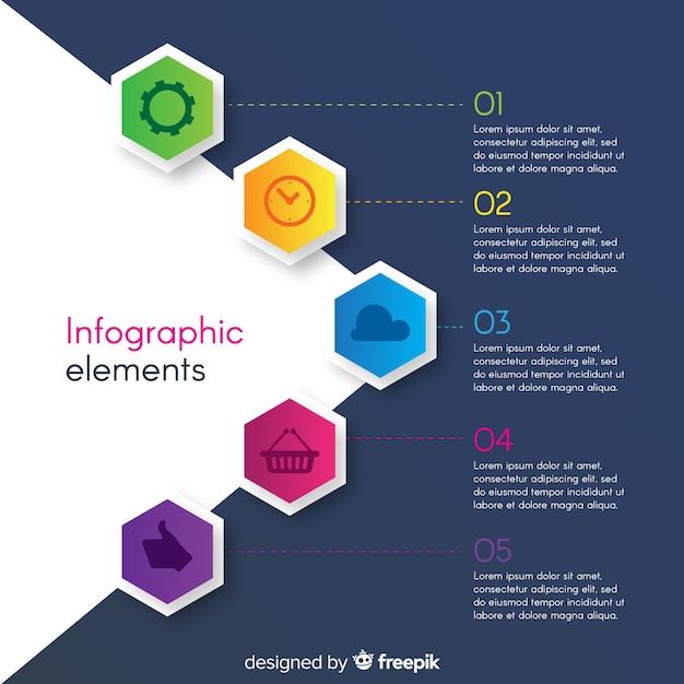 Raccolta di elementi di infografica Vettore gratuito