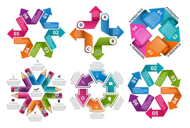 Raccolta di elementi di infografica. Vettore Premium