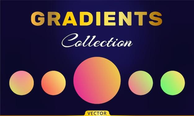 Raccolta di gradienti vettoriali Vettore Premium