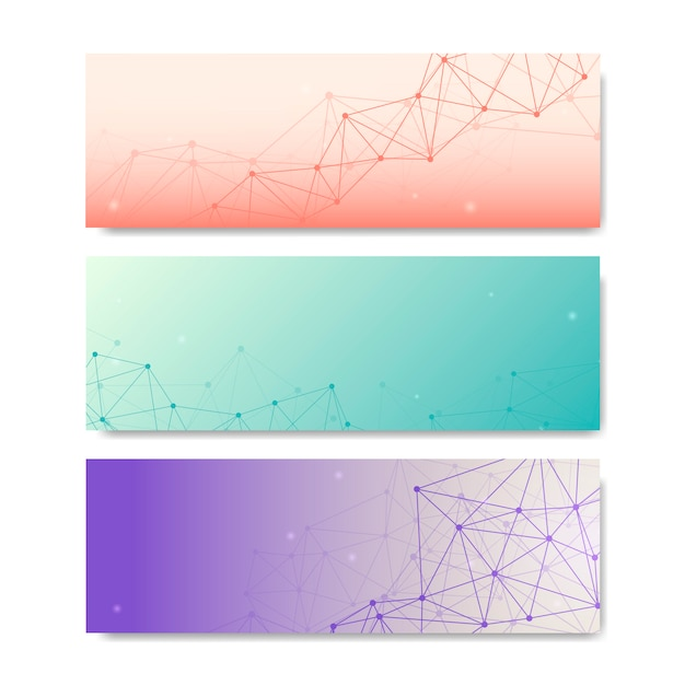 Raccolta di illustrazioni di rete neurale Vettore gratuito