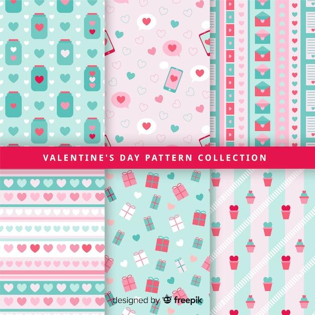 Raccolta di modelli di san valentino color pastello Vettore gratuito