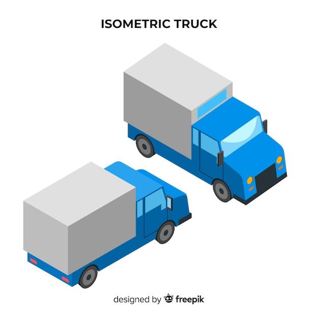 Raccolta di prospettive di camion isometrica Vettore gratuito