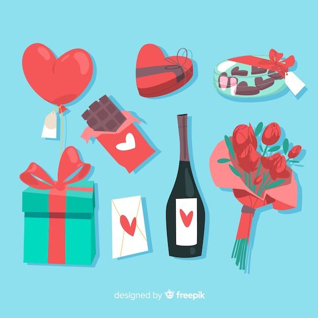 Raccolta di regali di san valentino Vettore gratuito