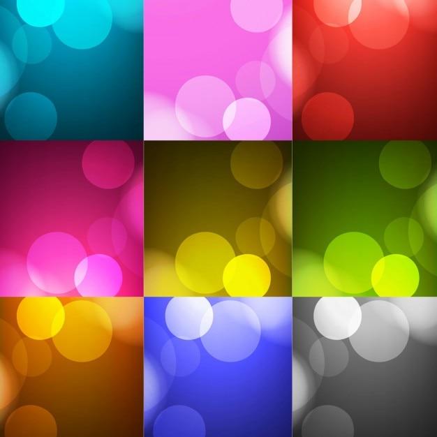 Raccolta di sfondi colorati con cerchi scaricare vettori for Sfondi per desktop colorati