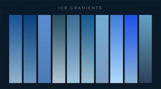 Raccolta di sfondo blu gradienti Vettore gratuito