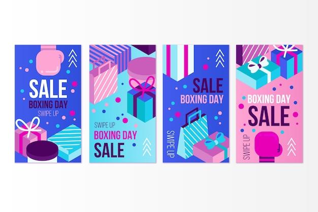 Raccolta di storie di instagram di vendita di santo stefano Vettore gratuito