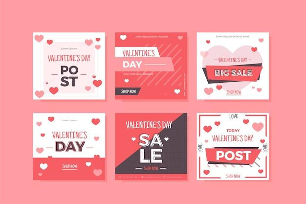 Raccolta di storie per san valentino Vettore gratuito