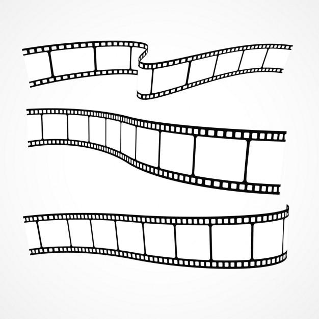 Raccolta di strisce di pellicola Vettore gratuito