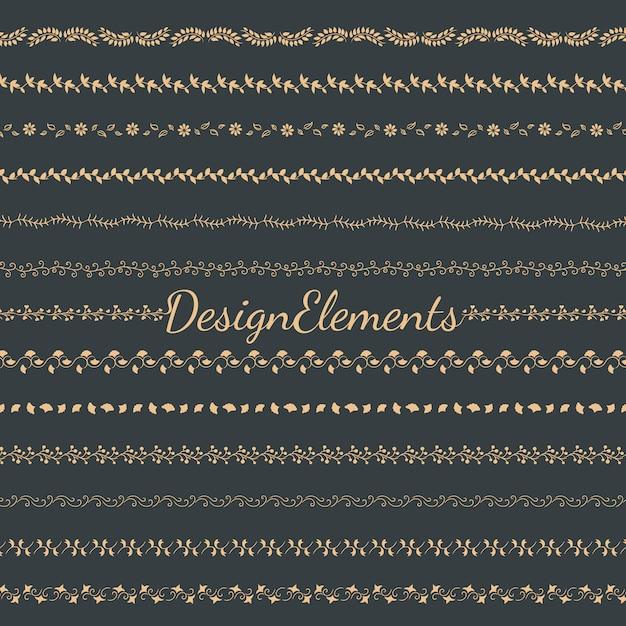 Raccolta di vettori di elementi di design divisori Vettore gratuito