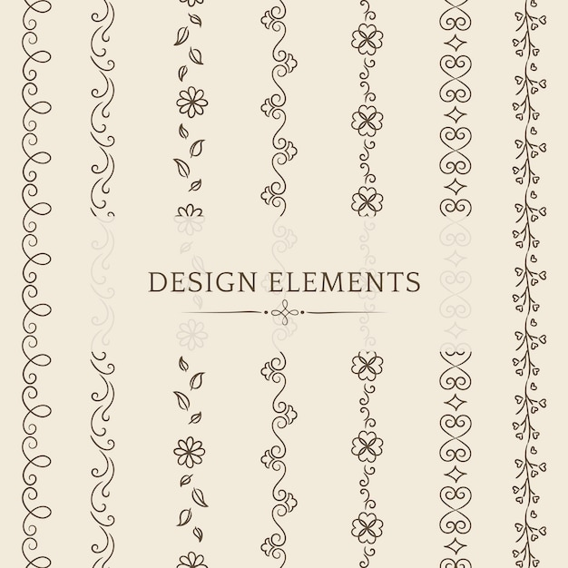 Raccolta di vettori di elemento di design divisore Vettore gratuito