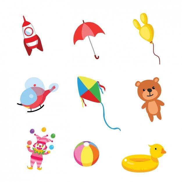 Raccolta Giocattoli Colorati Per Bambini Scaricare Vettori Gratis