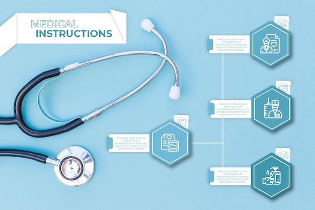 Raccolta infografica medica Vettore gratuito