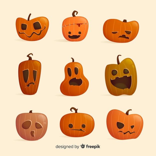 Zucche Di Halloween Cartoni Animati.Raccolta Piana Del Personaggio Dei Cartoni Animati Della Zucca Di